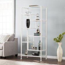 Alvie Metal/Glass Asymmetrical 68 Etagere Bookcase by Wade Logan