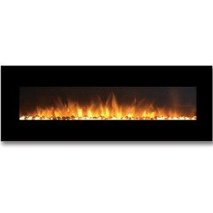 Skyline Pebble Linear Wall Mount Electric Fireplace by Moda Flame