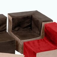 Suede Corner Chair