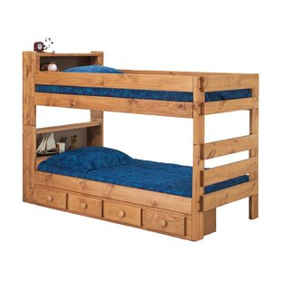 Bloom Bookcase Bunk Bed with Drawers