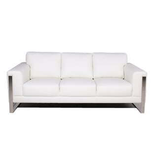Olivarez Leather Sofa by Orren Ellis #2