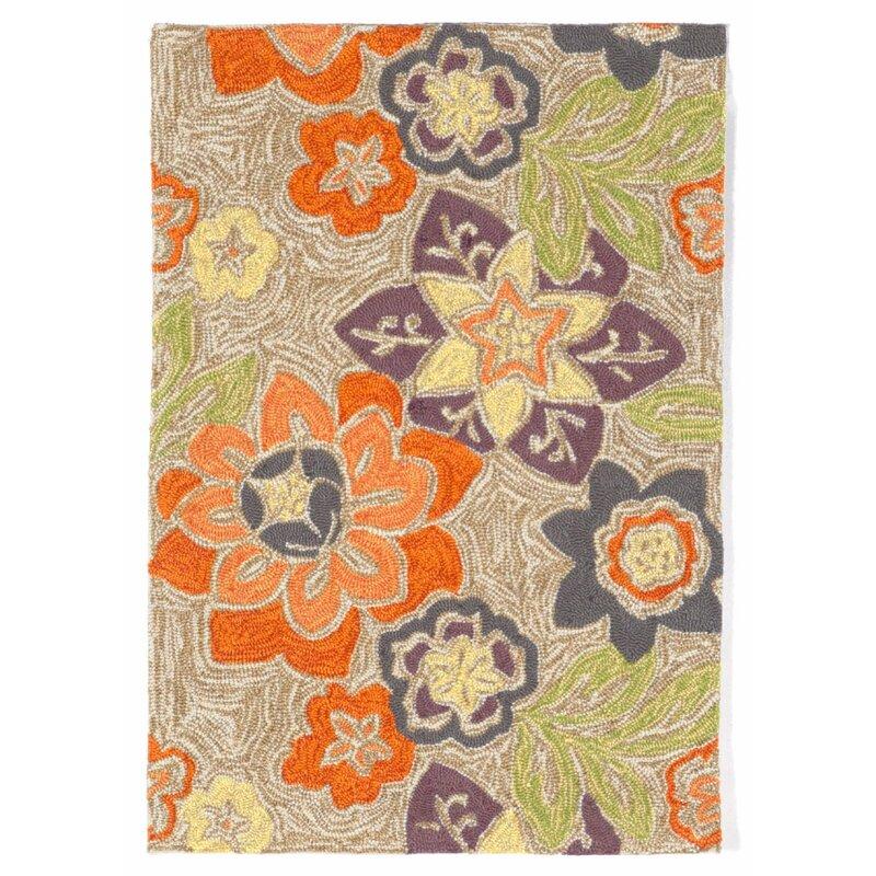 August Grove Dazey Hand-Hooked Purple Indoor/Outdoor Area Rug, Size: Rectangle 83 x 116