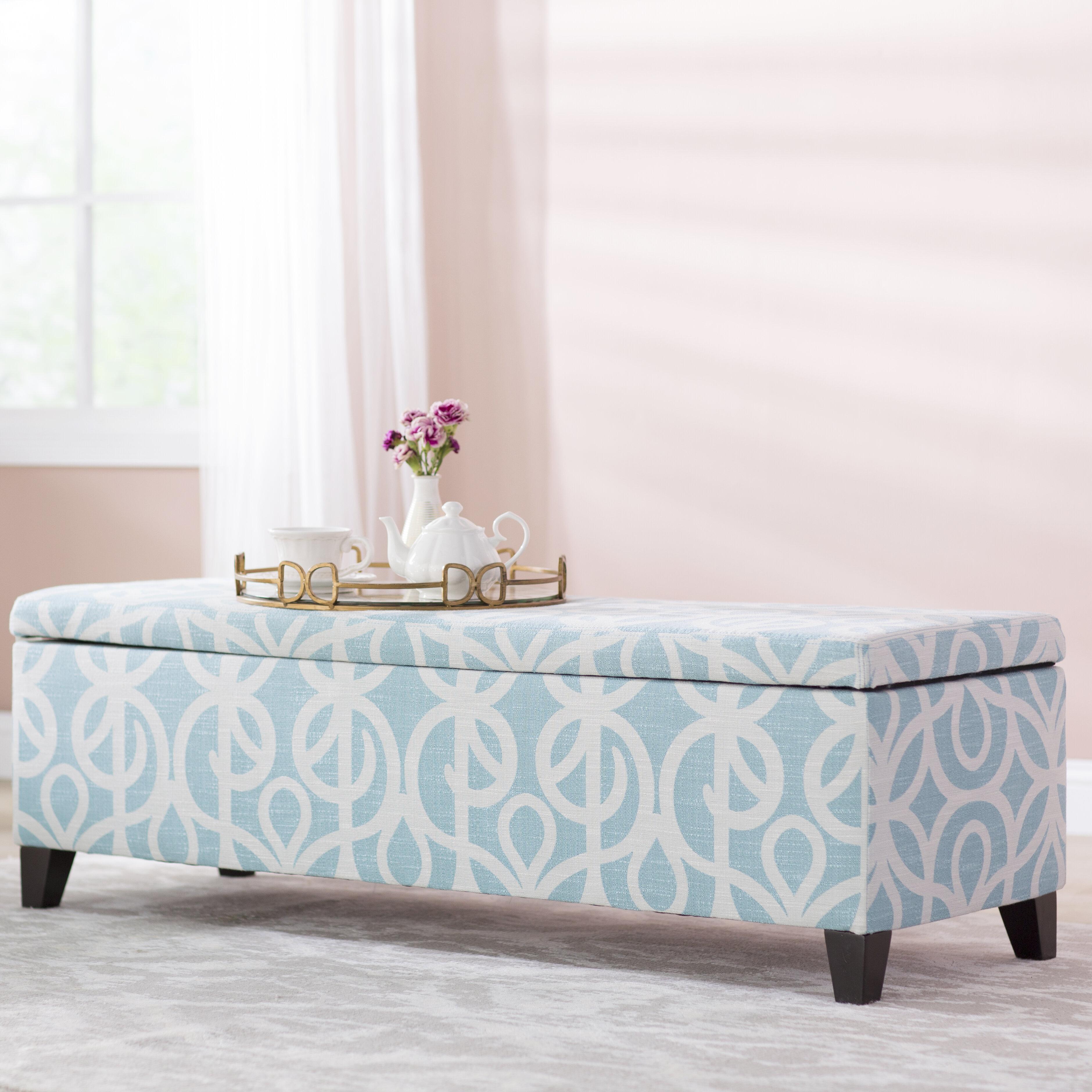 Charlton Home Adair Upholstered Storage Bench & Reviews | Wayfair