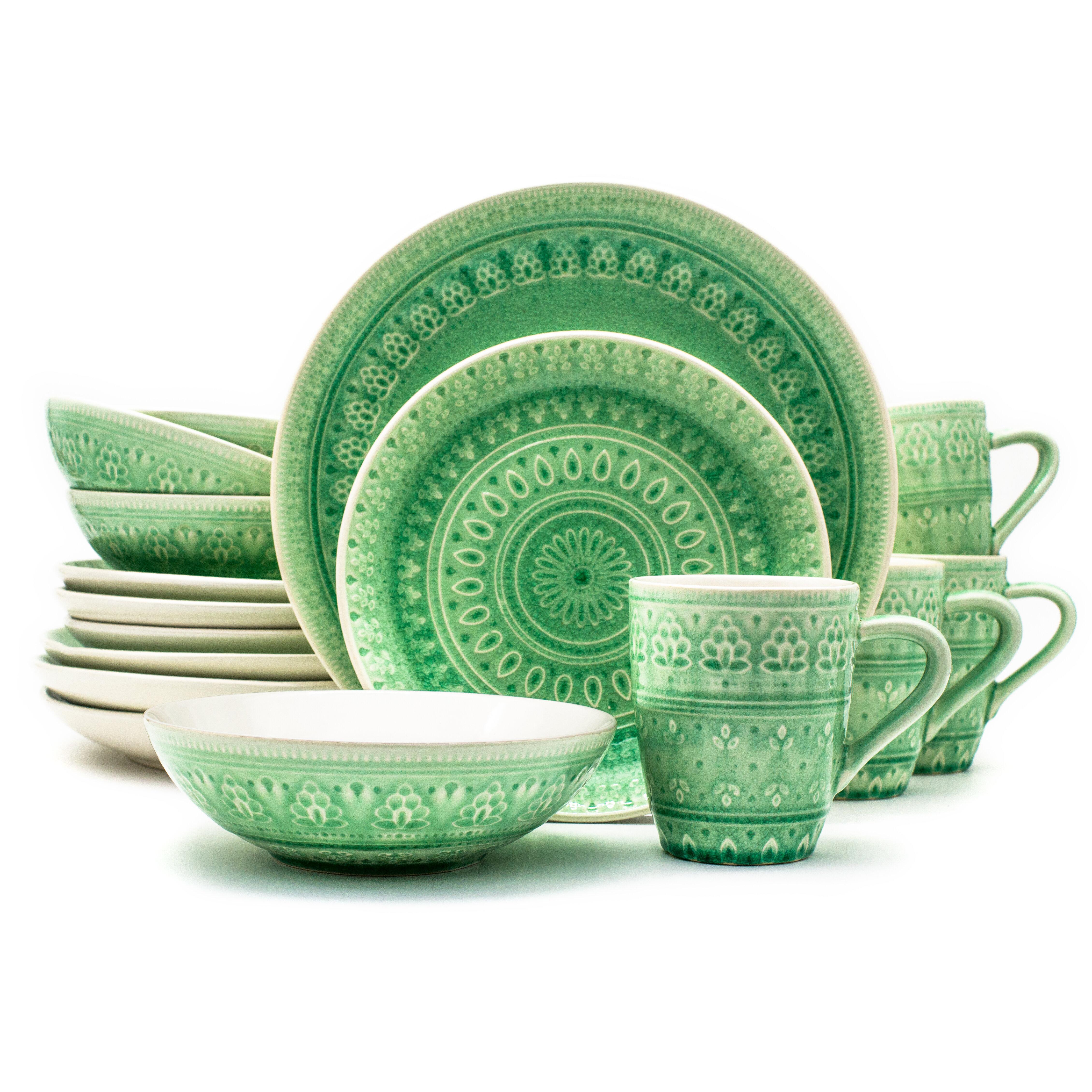 Mistana Halsey 16 Piece Dinnerware Set, Service For 4 U0026 Reviews | Wayfair