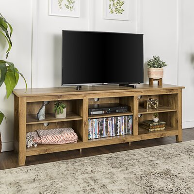 Beachcrest Home Sunbury TV Stand for TVs up to 70 with optional Fireplace Color: Barnwood, Fireplace Included: No