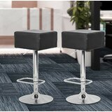 Adjustable Height Swivel Bar Stool (Set of 2) by Orren Ellis