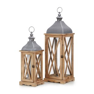 Price comparison Nightingale 2 Piece Glass Lantern Set By Trisha Yearwood Home Collection