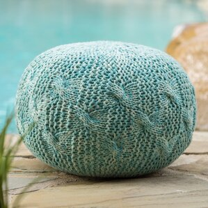 Morrow Outdoor Weave Ottoman by Bungalow Rose