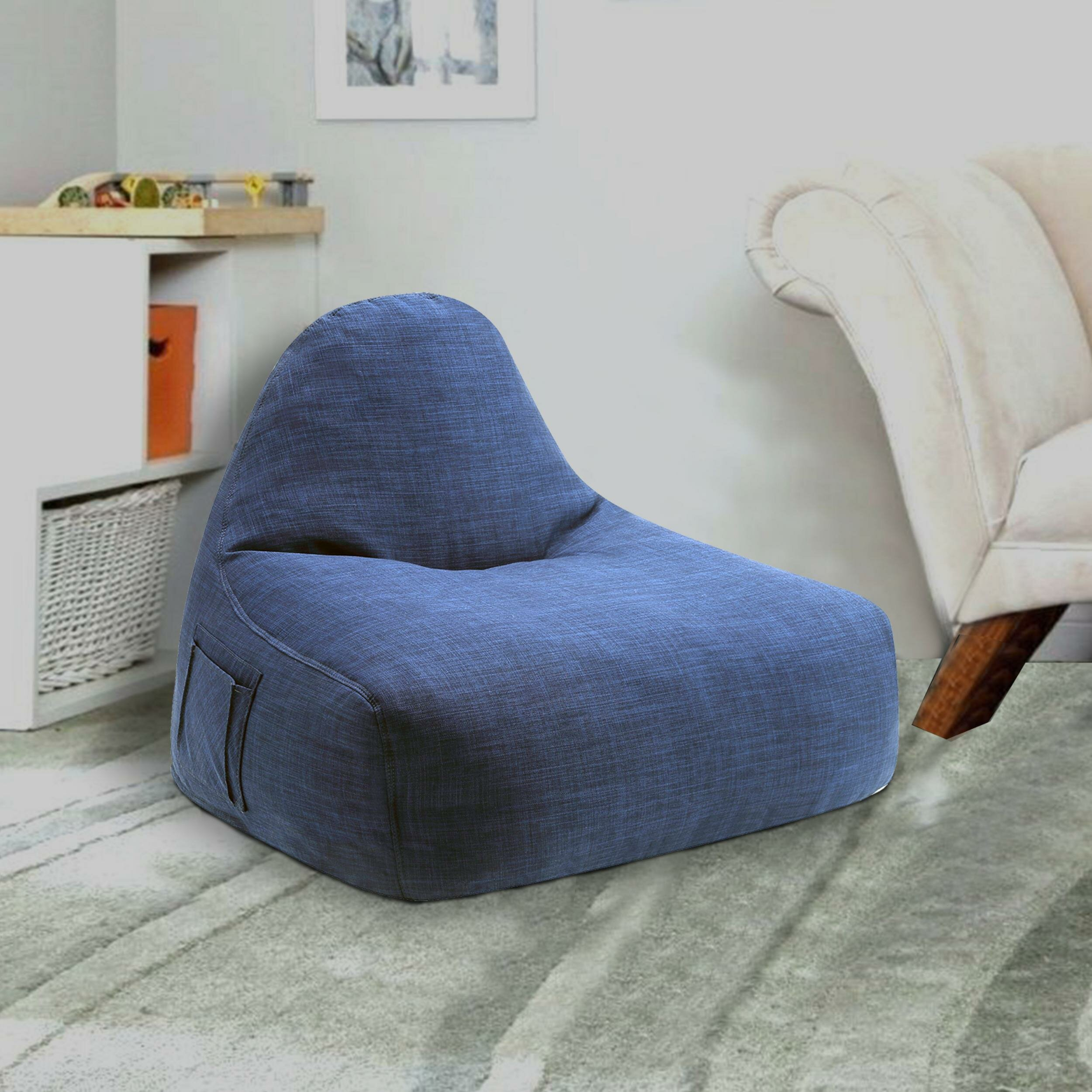 Stupendous Fabric And Foam Contemporary Large Bean Bag Chair Ibusinesslaw Wood Chair Design Ideas Ibusinesslaworg
