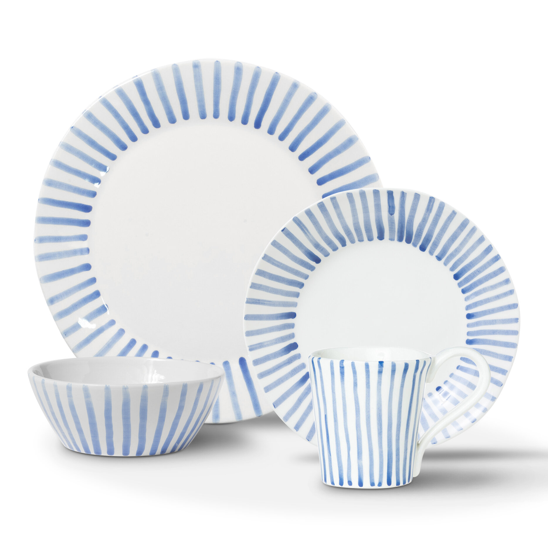 Vietri Viva Santorini 4 Piece Place Setting Set Service For 1 Reviews Wayfair