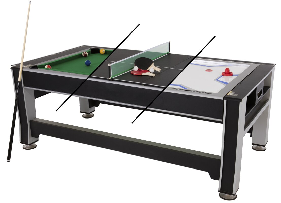 3-in-1 7' Rotating Game Table by Triumph Sports USA