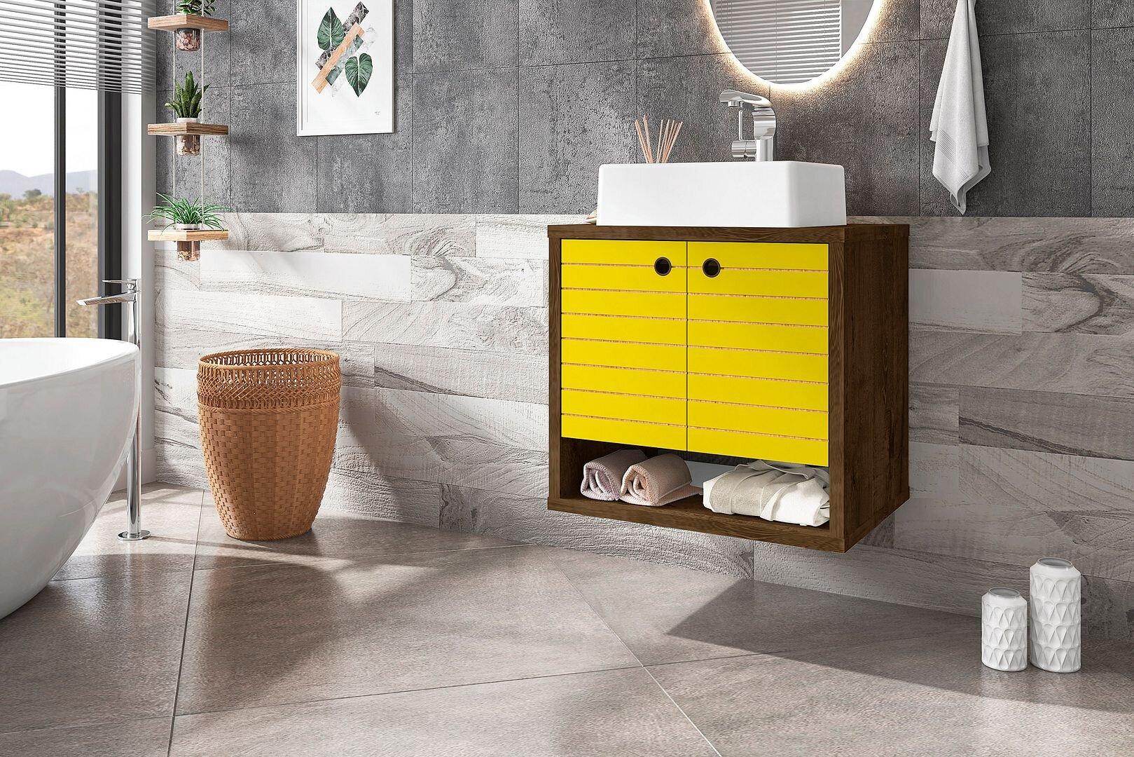 Wall Mounted Floating Yellow Bathroom Vanities You Ll Love In 2021 Wayfair