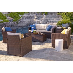 Galgano 6 Piece Sofa Seating Group with Cushions