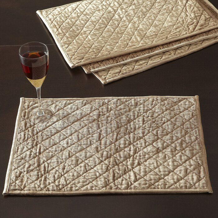 White Quilted Placemats   Wayfair : quilted placemats - Adamdwight.com