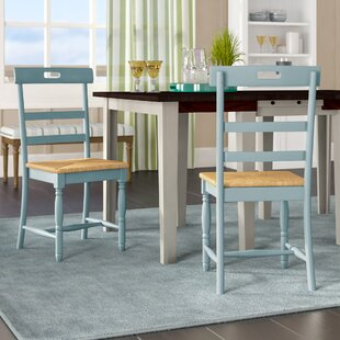 Compare Alburg Solid Wood Dining Chair (Set of 2) by Beachcrest Home Reviews (2019) & Buyer's Guide
