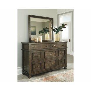 Ashley Darloni 8 Drawer Double Dresser with Mirror