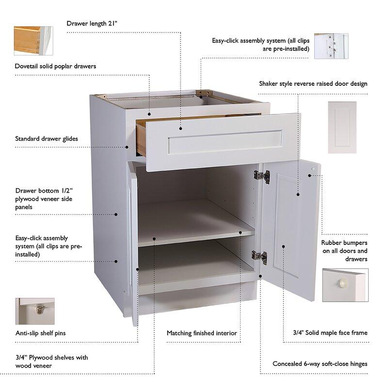 Ebern Designs Frits 15 X 33 Kitchen Wall Cabinet Wayfair