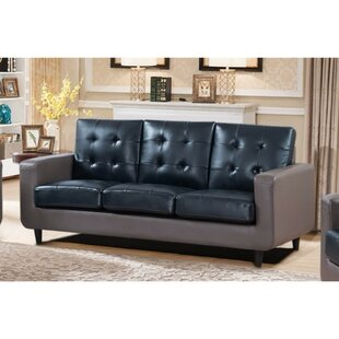 Shop Drumheller Contemporary Sofa with Velvety Cushion by Latitude Run
