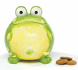 Ceramic Toby Toad 105.8 qt. Cookie Jar