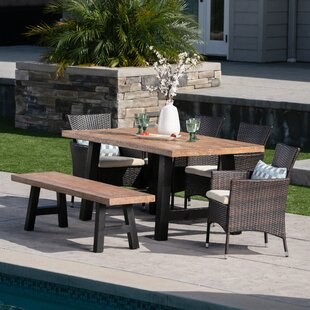 Peete 6 Piece Dining Set with Cushions