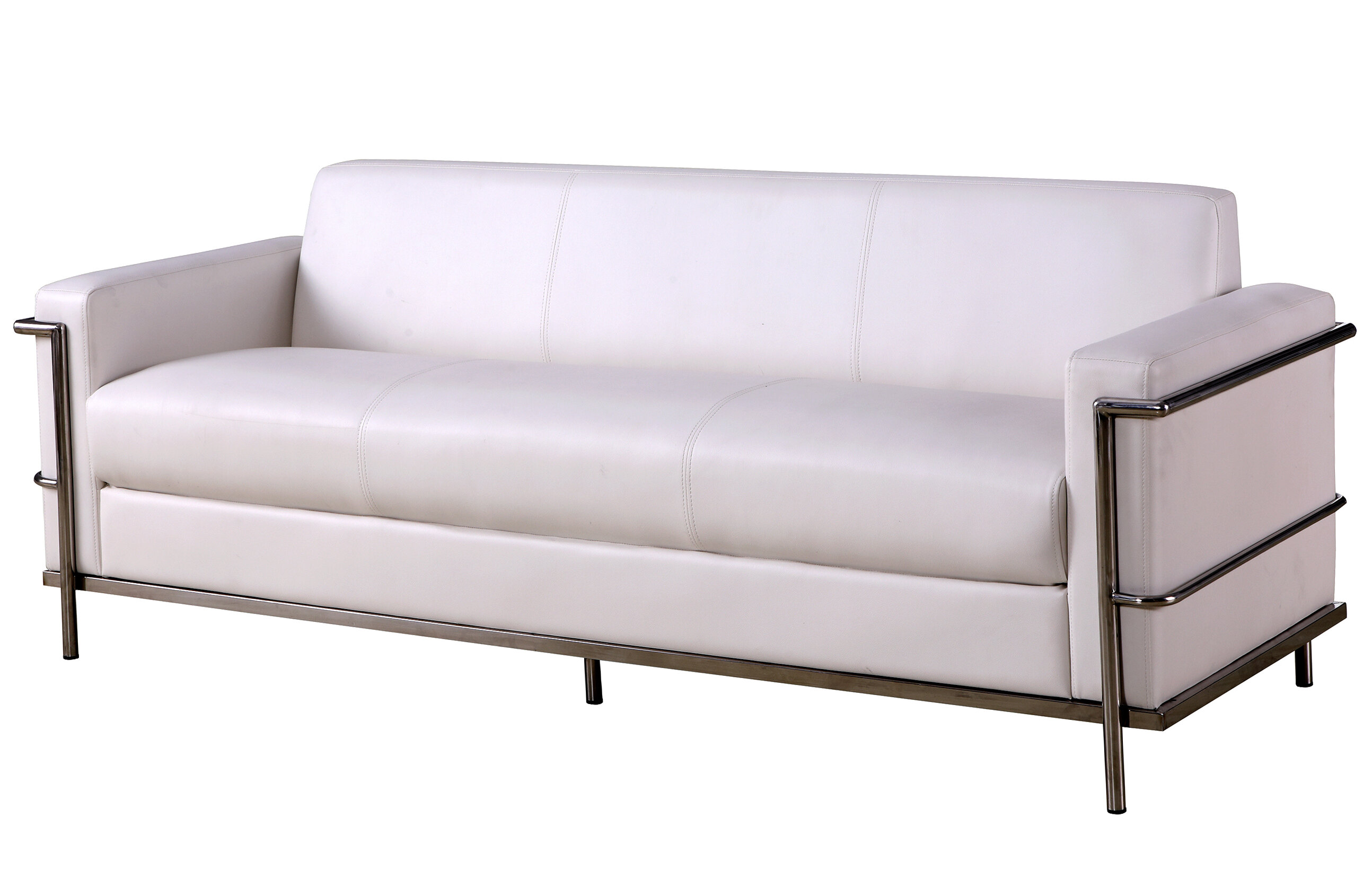 Faux Leather Silver Sofas You Ll Love In 2021 Wayfair