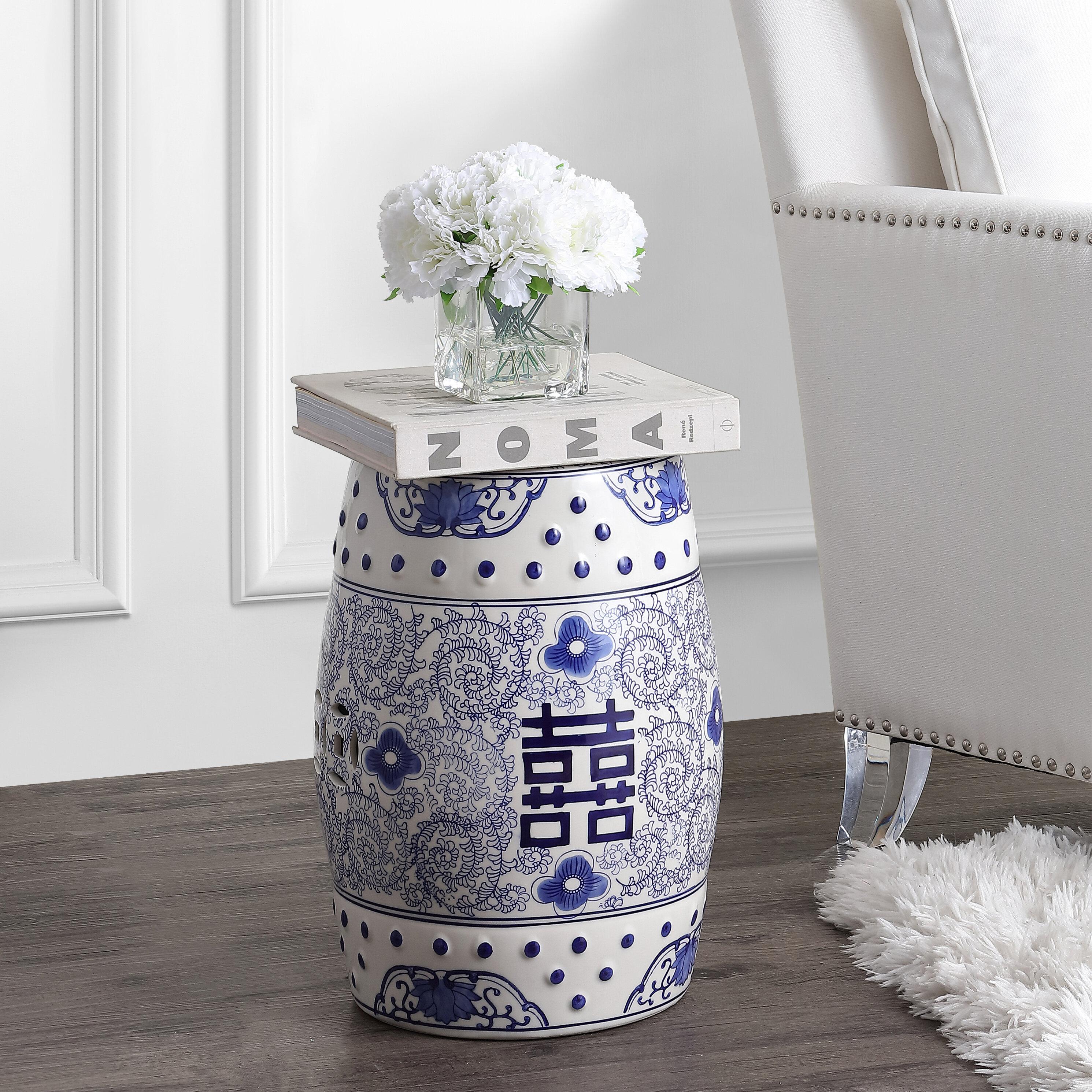 Phenomenal Galliher Double Happiness Chinoiserie Ceramic Garden Stool Creativecarmelina Interior Chair Design Creativecarmelinacom