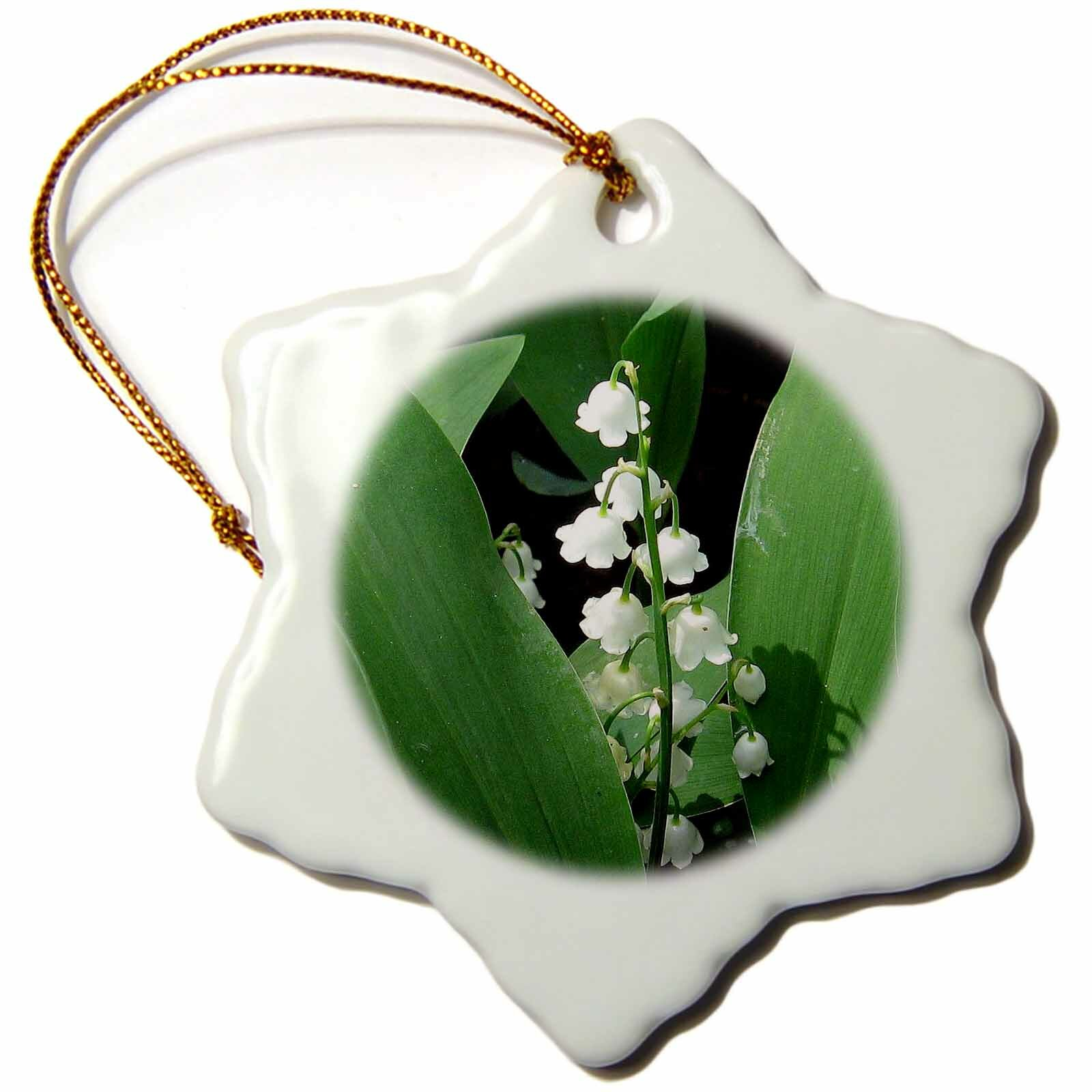 The Holiday Aisle Lily Of The Valley Snowflake Holiday Shaped Ornament Wayfair