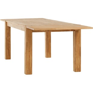 Watauga Extendable Solid Wood Dining Table Highland Dunes