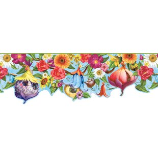 Sunny Fairies House 15' x 8.5 Floral Border Wallpaper By Harriet Bee