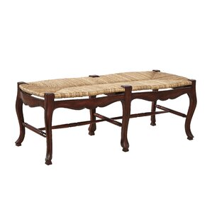French Country Mahogany Bench by Furniture Classics LTD