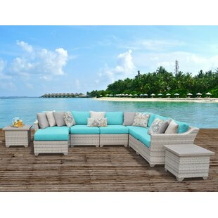 Ansonia 9 Piece Sectional Seating Group with Cushions by Rosecliff Heights