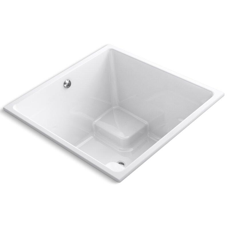 Small Square Soaking Tub | Wayfair
