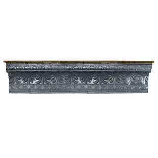 Brittin Metal and Wood Wall Shelf by Bungalow Rose