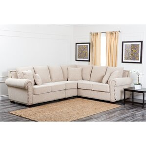 Barnes Sectional  sc 1 st  Wayfair : beige leather sectional - Sectionals, Sofas & Couches