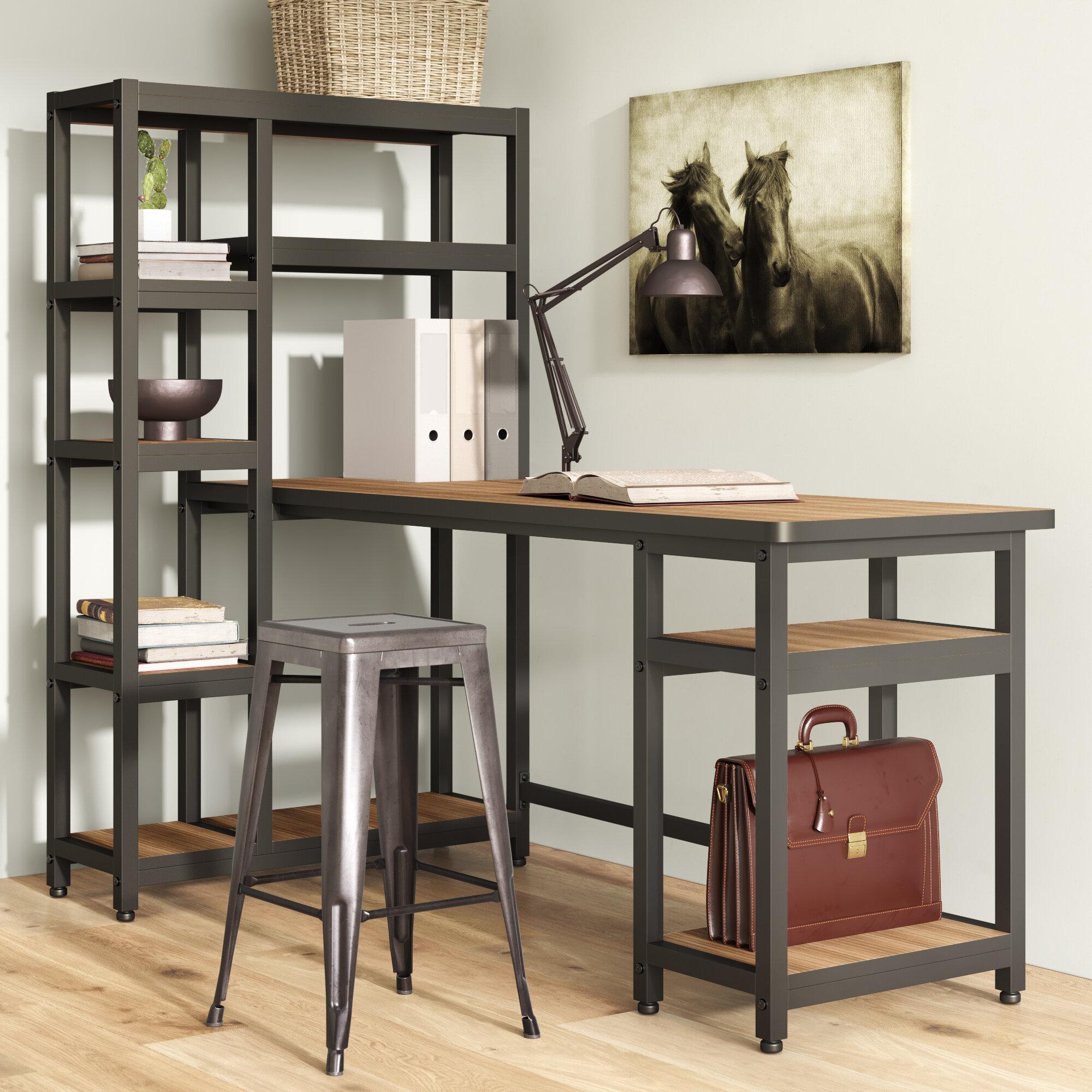 Hutch Light Wood Desks You'll Love in 10   Wayfair
