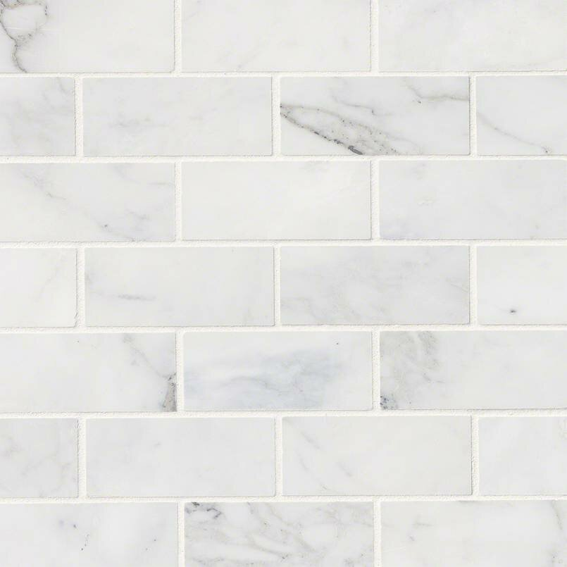 msi calacatta cressa honed 2 quot  x 4 quot  marble subway tile in