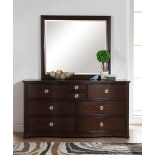 Roane 8 Drawer Double Dresser with Mirror