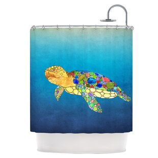 Bubbles Single Shower Curtain