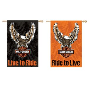 Harley-Davidson® 2-Sided Vertical Flag by Evergreen Enterprises, Inc
