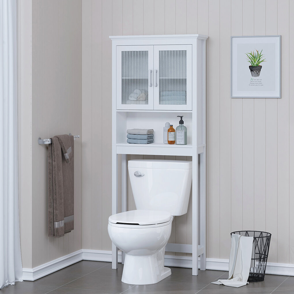 Red Barrel Studio Vivelle 26 77 W X 66 92 H X 9 4 D Over The Toilet Storage Reviews Wayfair