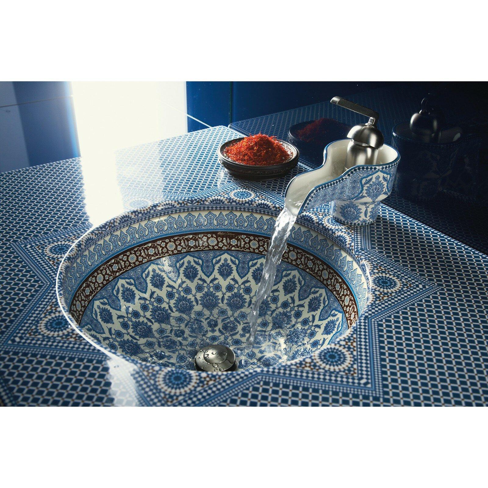 Marrakesh Ceramic Circular Undermount Bathroom Sink