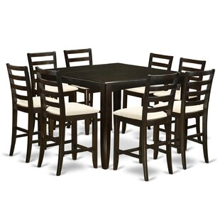Tamarack 9 Piece Counter Height Extendable Solid Wood Dining Set by Red Barrel Studio Findt
