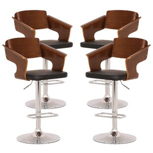 Stcyr Adjustable Height Swivel Bar Stool (Set of 4)