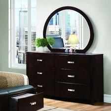 Herring 6 Drawer Dresser with Mirror by Latitude Run