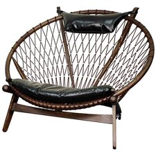 Soren Bonded Leather Papasan Chair by New Pacific Direct