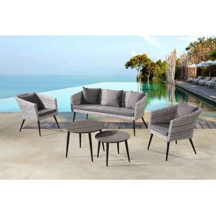 Ayden 5 Piece Sofa Seating Group with Cushions