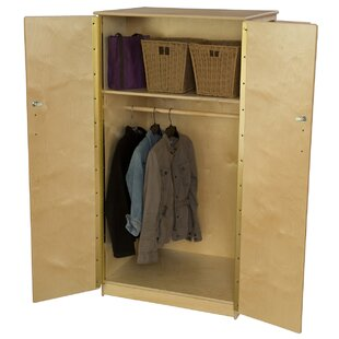 Teacher's 2 Compartment Classroom Cabinet with Casters by Wood Designs