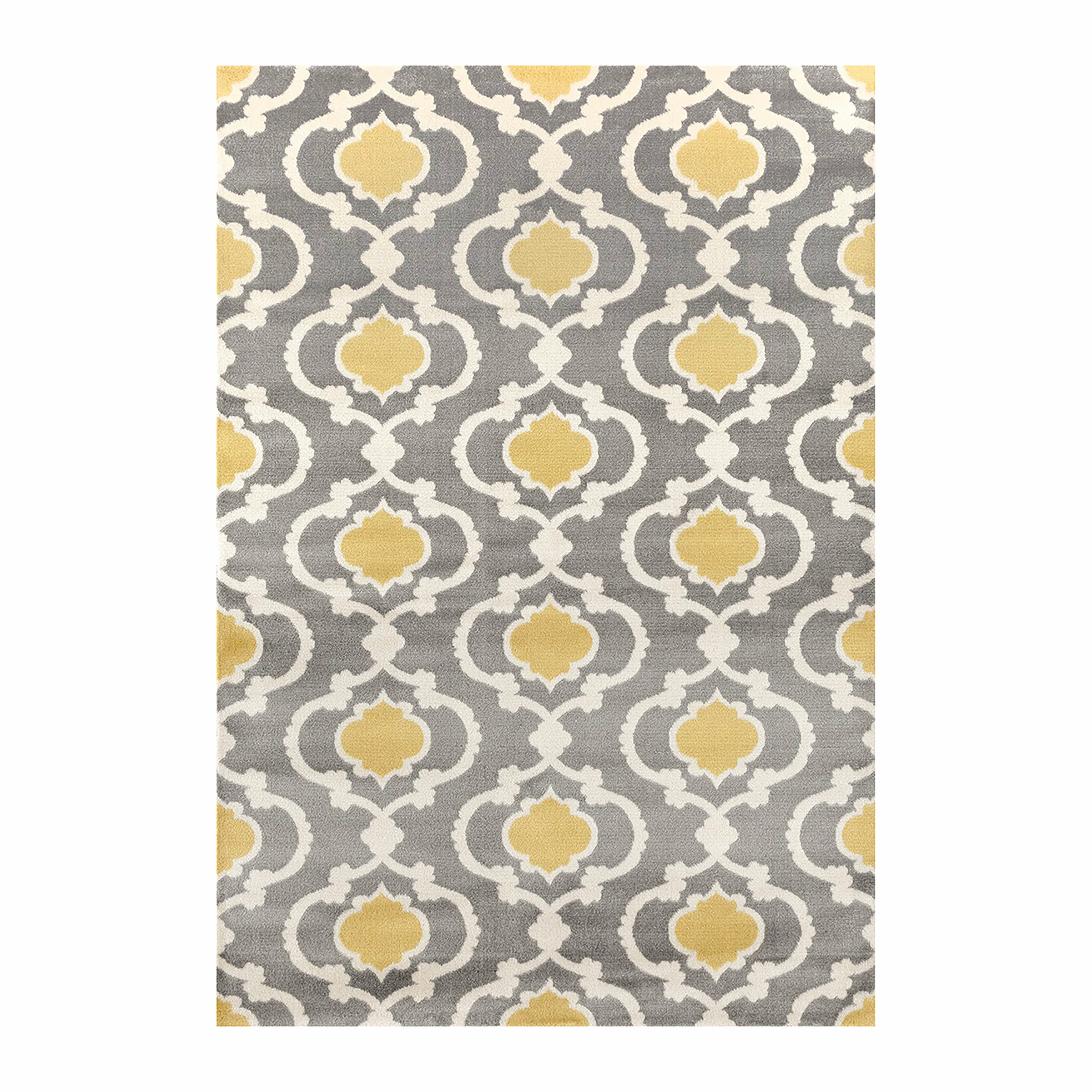Andover Mills Melrose Polypropylene Gray Yellow Area Rug Reviews Wayfair