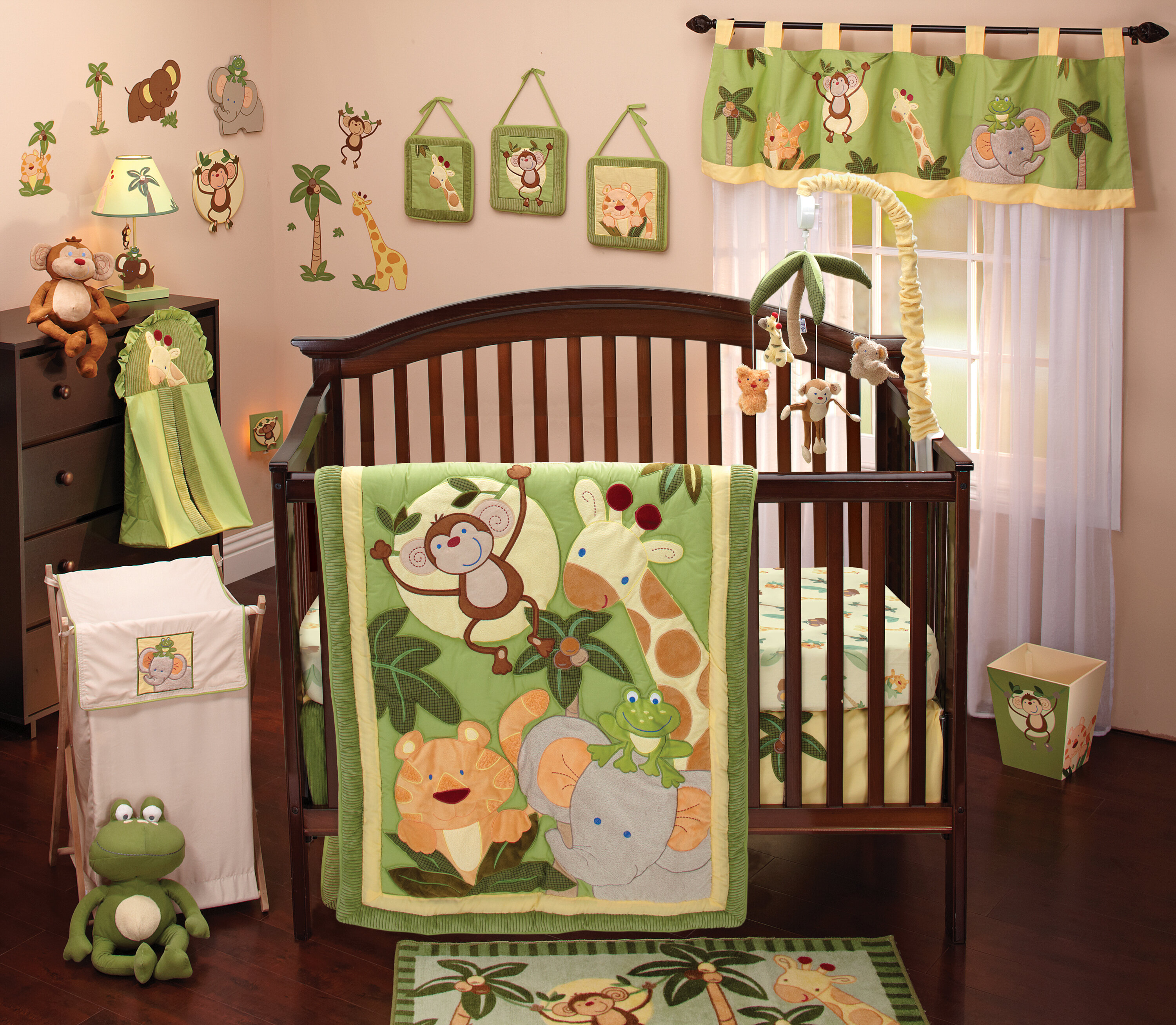 nojo jungle babies 8 piece crib bedding set reviews wayfair