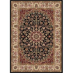 Buy luxury Langlee Black/Red Area Rug ByAstoria Grand